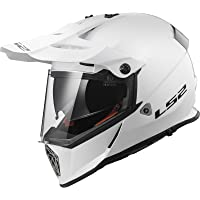 LS2 Casco Moto mx436 Pioneer, Gloss White, XXS