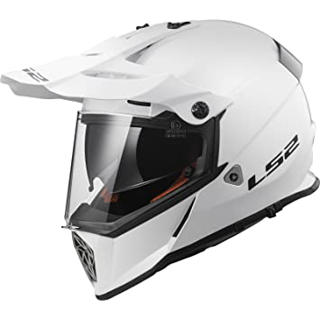 LS2 Casco Moto mx436 Pioneer, Gloss White, 3 x l