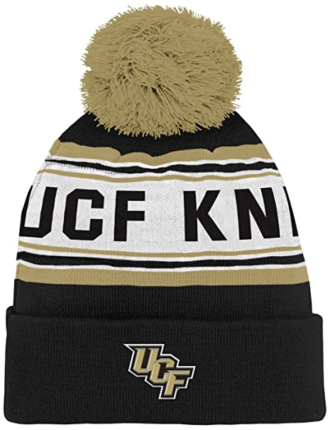 cb842fdc5 NCAA by Outerstuff NCAA Central Florida Golden Knights Toddler Jacquard  Cuffed Knit Hat w  Pom