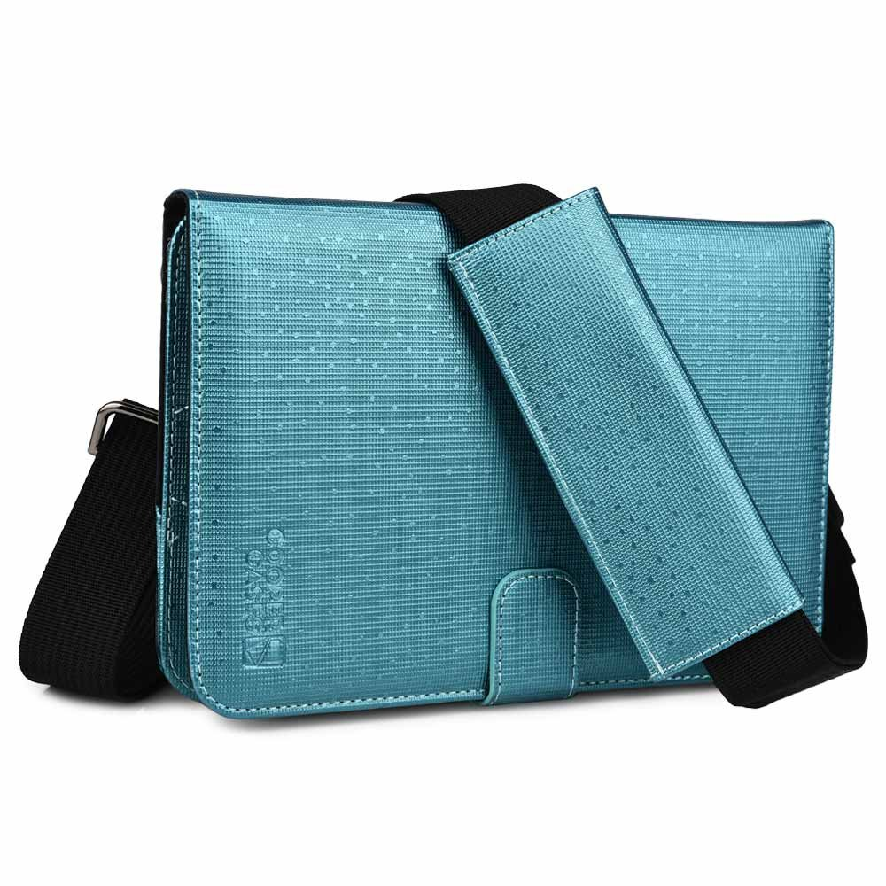 Cooper Magic Carry II case Shoulder Strap 7-8'' inch Tablets | Protective Tablet Folio Cover w/Handle & Stand, Adjustable Strap | Carrying Case Business School Restaurant Travel (Blue)