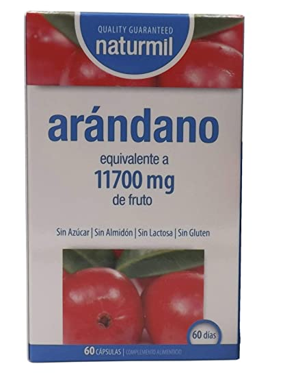 Naturmil Arándano rojo 60 capsulas 11.700 mg + Vitamina C por capsula ALTA CONCENTRACIÓN, previene