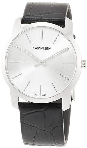 Calvin Klein - Reloj de Pulsera analógico para Mujer (Cuarzo, Talla única), Color Plateado y Negro: Amazon.es: Relojes