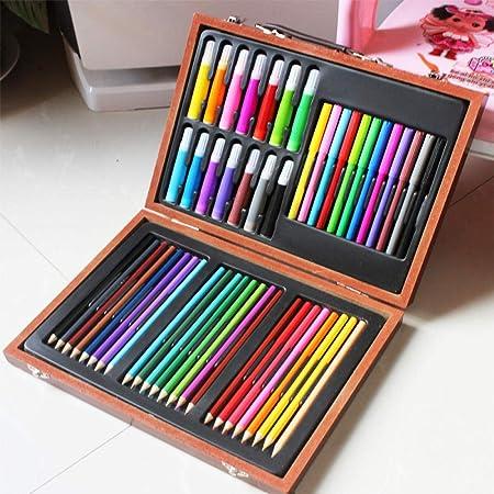 Nwarmsouth Set de Pintura y Dibujo, Dibujo Infantil de 50 Piezas, lápices de Colores, bolígrafos de Acuarela, Obras de Arte, Set de Arte de lápices de Colorear para Dibujar y Dibujar: Amazon.es:
