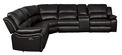 Homelegance 8260DB6PW Power Reclining Sectional Sofa with Storage Console,  120\