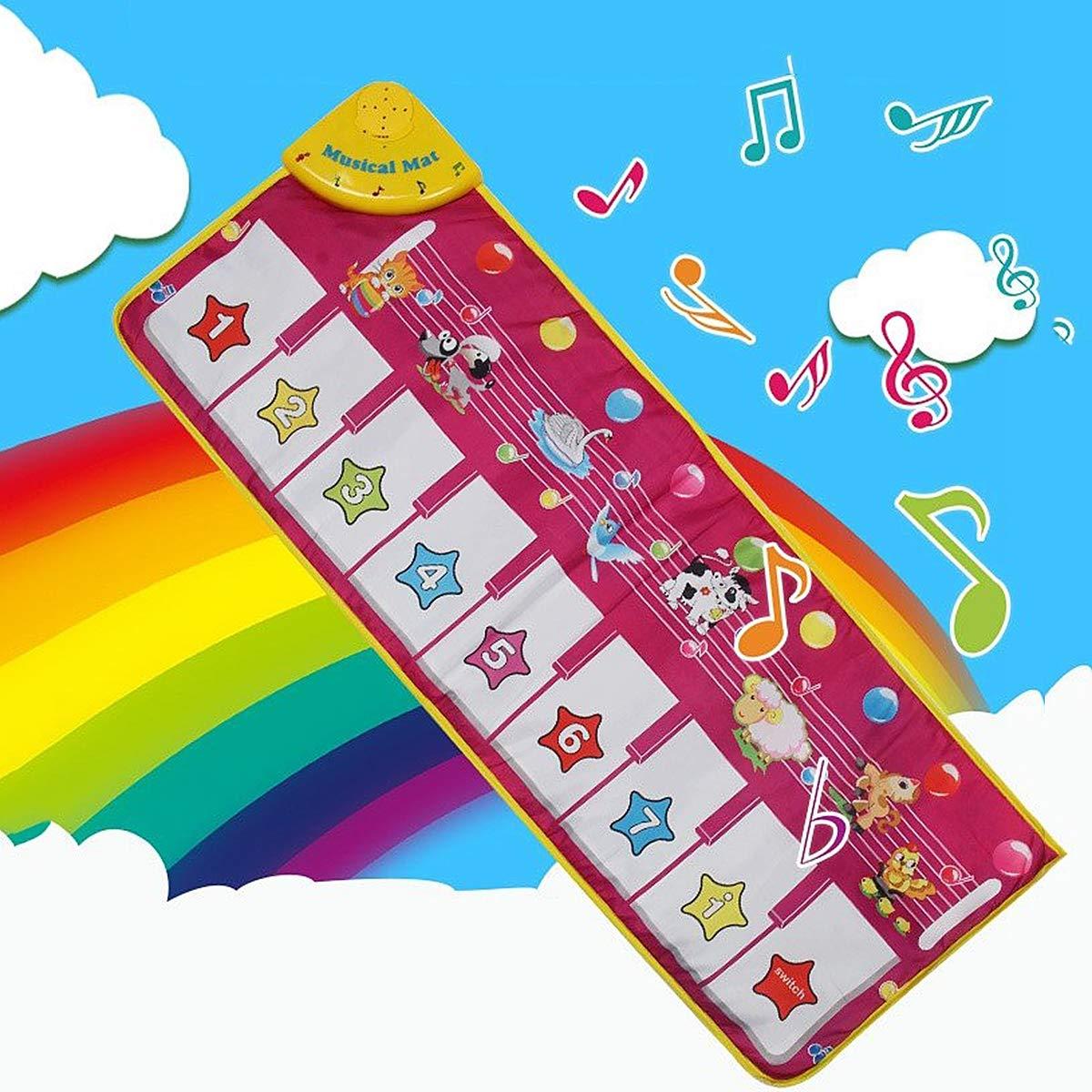 Children's Electronic Piano Mat, Electronic Music Playmat Piano Mat Cartoon Animal Fun Crawling Blanket by Eustoma (Image #2)