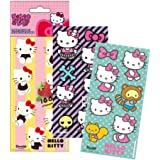 Lot 3 planche de Stickers hello kitty Autocollant Disney 12 x 6 cm scrapbooking