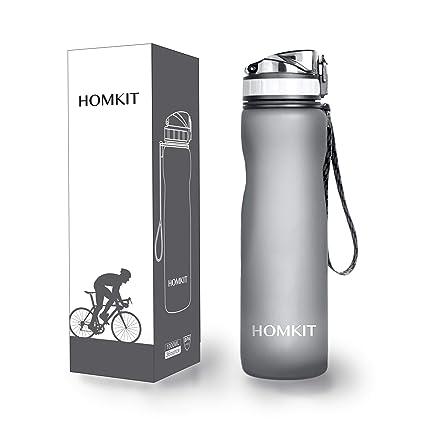 Amazon.com: HOMKIT Botella de agua deportiva de 1000 ml ...