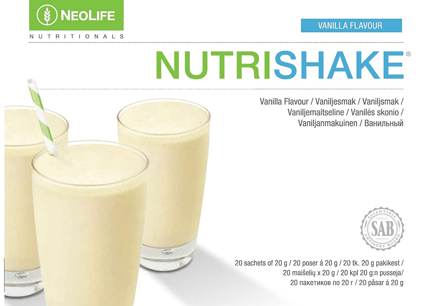 Neolife Nutrishake Vanilla 20 Saschets Apporta Protein And Football Ideal For Athletes The Whole Family Benefits Key