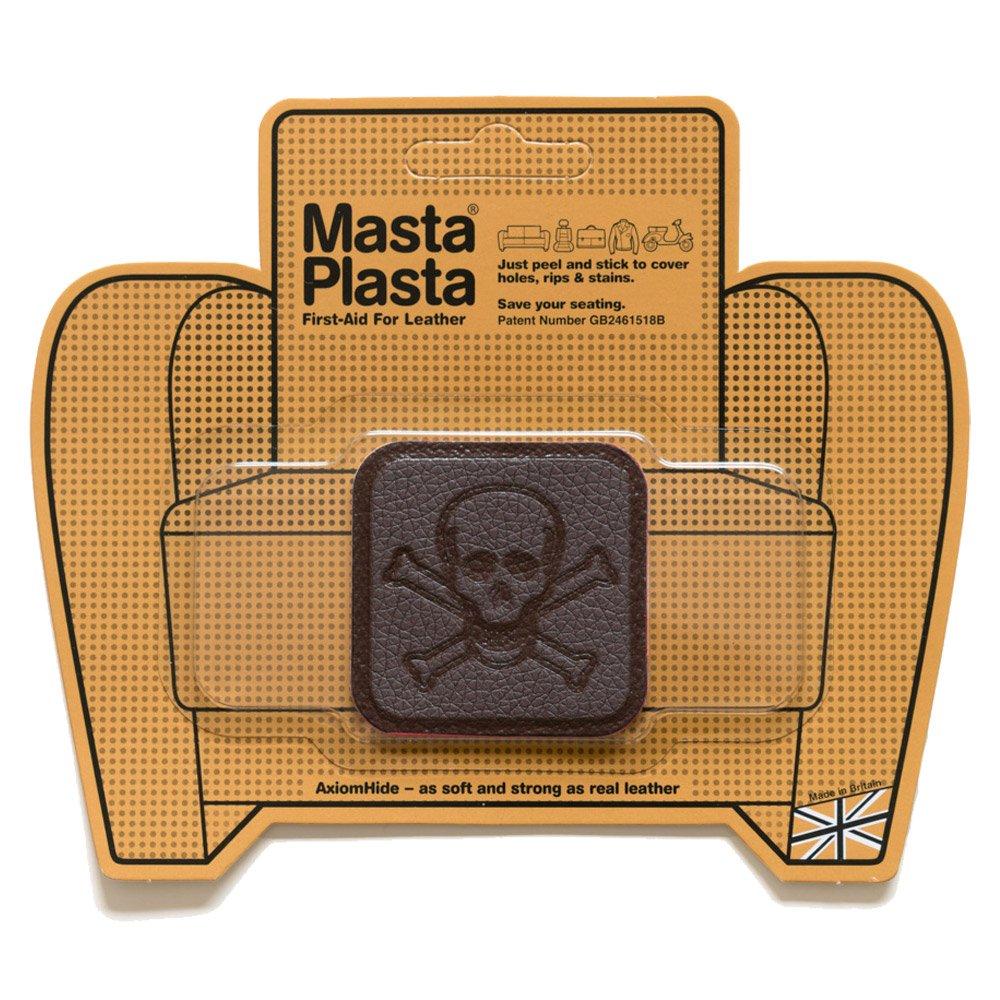 MastaPlasta Reparación Cuero, Polipiel y Skai - Parches Adhesivos Pirata Pequeño (50x50mm) (Gris) MastaPlasta Limited