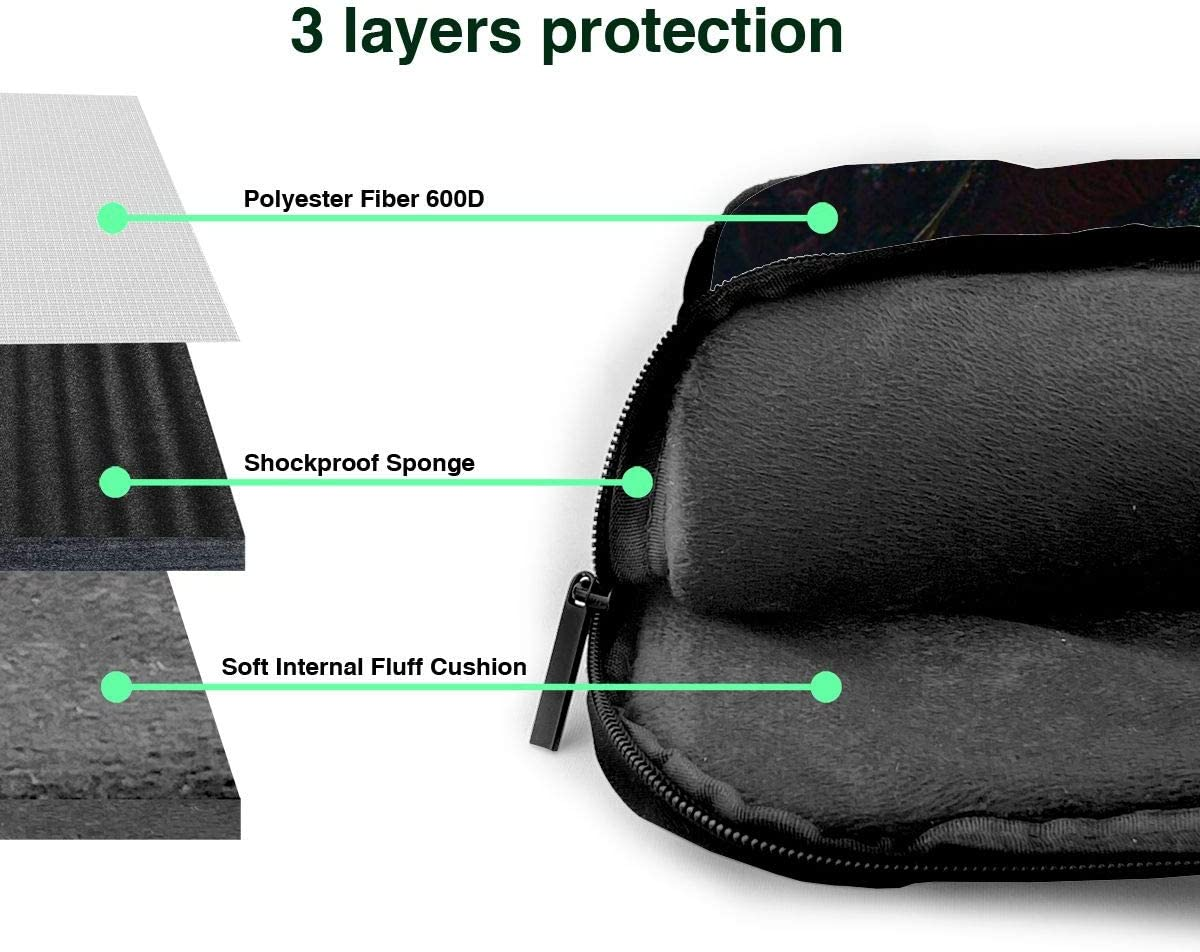 15.6//14//13in Stylish Customized Business Briefcase Computer Package Laptop Case Portable Shoulder Bag Beauty and Beast 1