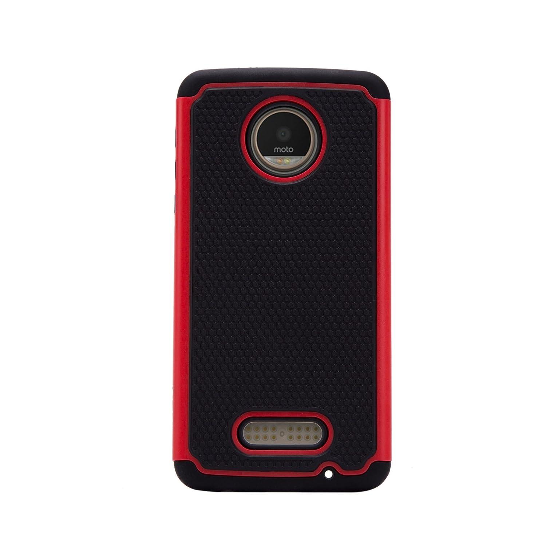 32nd® Funda Rígida Anti-Choques de Alta Proteccion para Motorola Moto Z Play Carcasa Defensora de Doble Capa - Morado