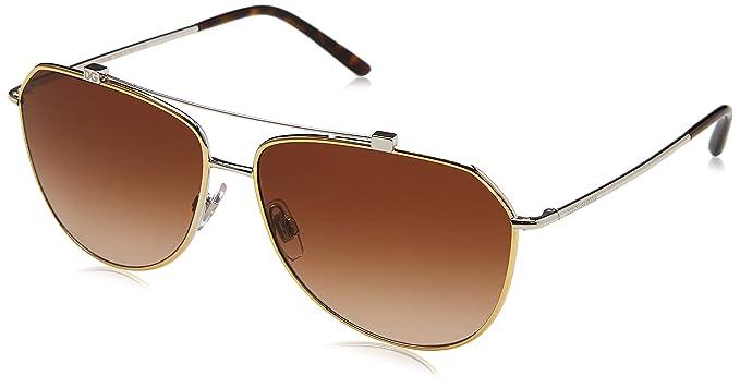 Dolce & Gabbana 0Dg2190 Gafas de sol, Gold/Silver, 59 para ...