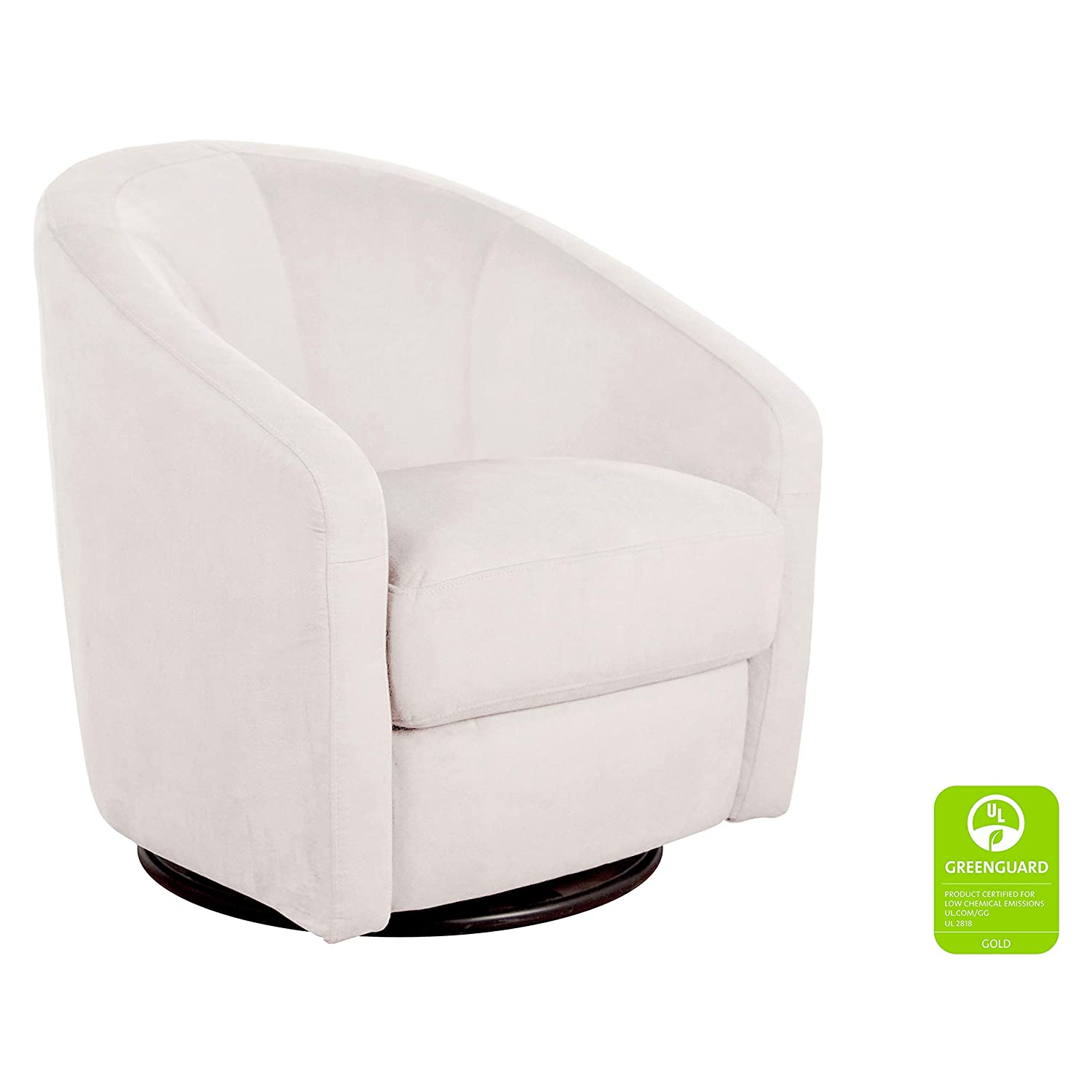 Groovy Babyletto Madison Swivel Glider Ecru Microsuede Bralicious Painted Fabric Chair Ideas Braliciousco