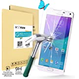 Galaxy Note 4 Screen Protector Glass,Yootech Galaxy Note 4 Tempered Glass Screen Protector - Premium Tempered Glass Screen Protector(2.5D 9H Hardness, Superslim 0.26mm) - Guard Against Scratches and Drops - Ultra HD Clear W