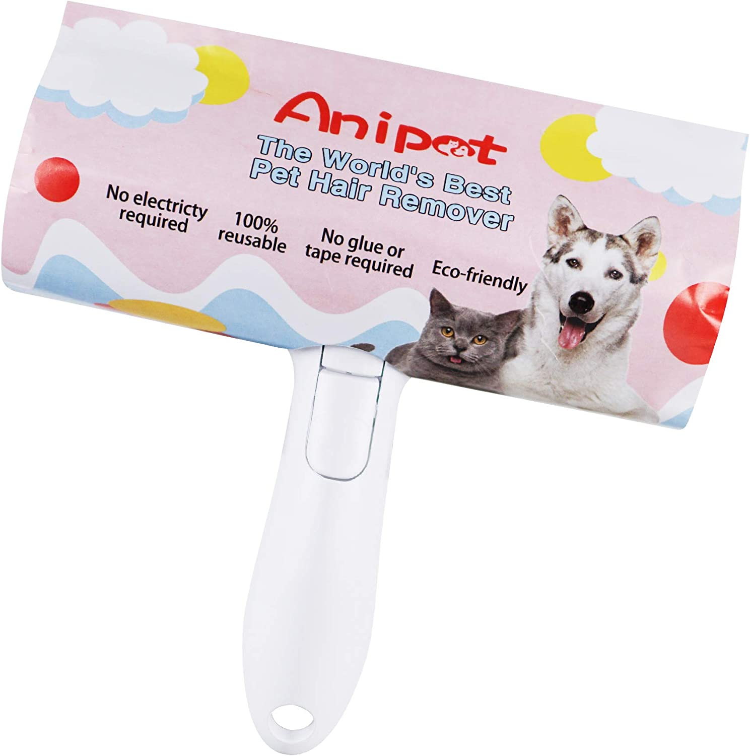 Pet Hair Remover Roller Carpet Couch Reusable Pet Hair Lint Roller Dog Cat Hair Remover Perfect Animal Fur Remover for Furniture Sofa Comforters