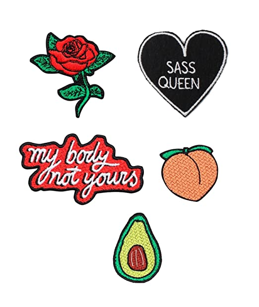 45904223f45 Patch Pack Iron On Badge Gift Tumblr Cute Kawaii Fun Rose Peach ...