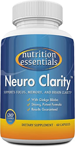 Nootropic Brain Function Booster Supplement – Enhance Memory, Mental Clarity, Energy, Focus, Concentration – Brain Support with St. John s Wort and Ginkgo Biloba – 1 Month Supply