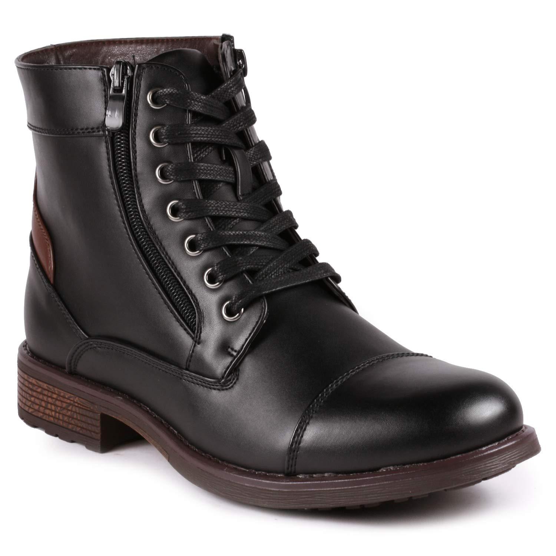 Metrocharm MC305 Men's Lace Up Cap Toe Oxford Boot (10, Black)