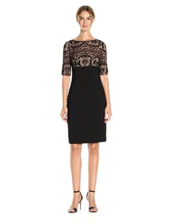 2d7a6c6c Adrianna Papell Women's Lace Sheath Dress at Amazon Women's Clothing ...