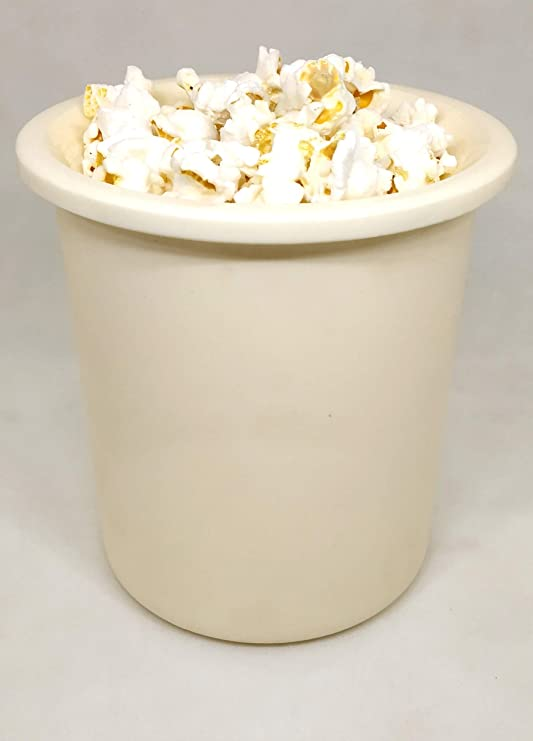 G.V.UTENSILS Microwave Safe Popcorn Maker, CREAM