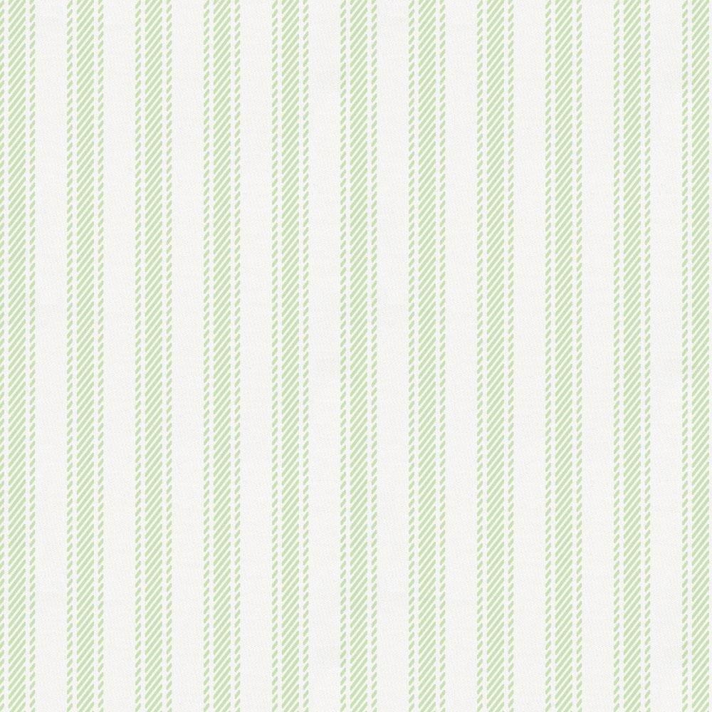 Carousel Designs Ivory Ticking Stripe Crib Skirt Single-Pleat 17-Inch Length Organic 100/% Cotton Crib Skirt Made in The USA
