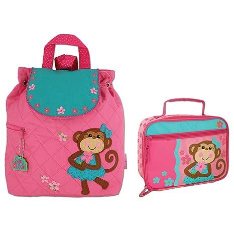 b1ebbddadca Stephen Joseph Quilted Girl Monkey Backpack and Lunch Box - Toddler  Backpacks - Preschool Backpacks  Amazon.ca  Luggage   Bags