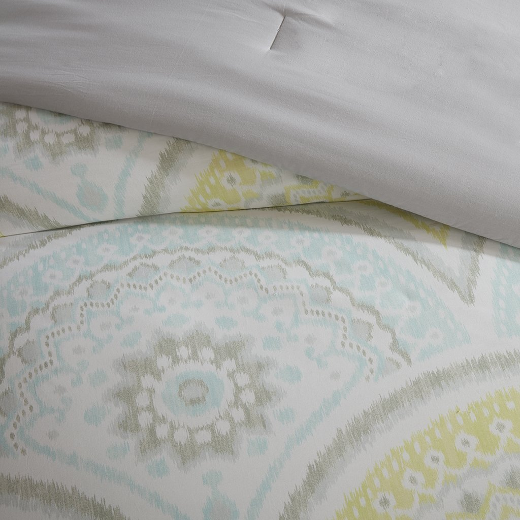 Urban Habitat Matti 7 Piece Cotton Comforter Set Yellow King//Cal King UH10-0030