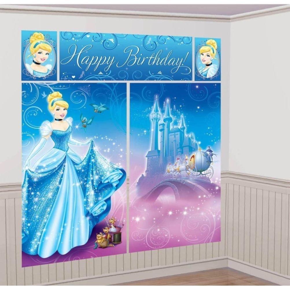 Amazon.com: Defonia Cinderella Scene Setter Birthday Princess ...
