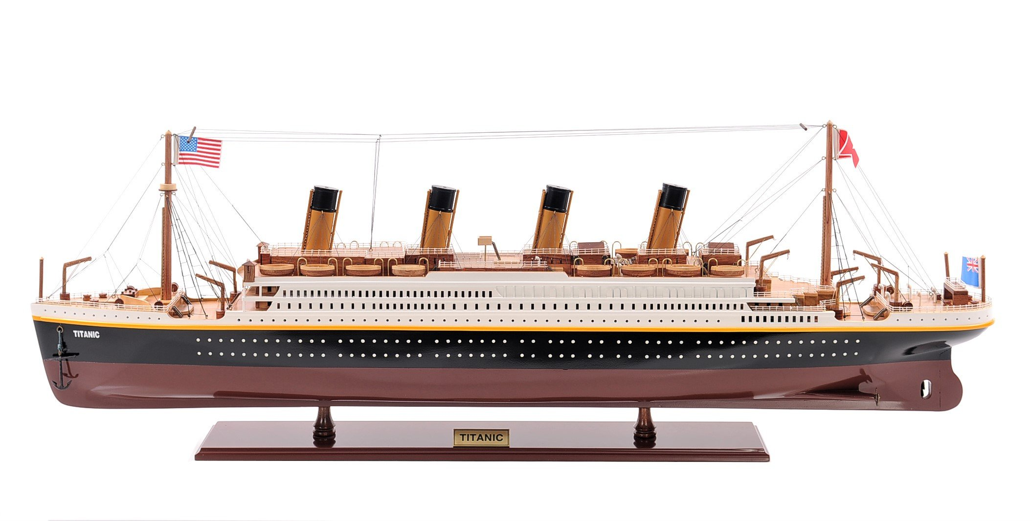 Old Modern Handicrafts Painted Titanic, Small