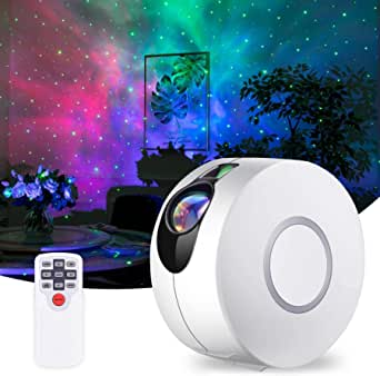 Galaxy Projector, JFMShop Star Projector with LED Nebula Cloud, Laser Star Light Projector with Remote Control for Kids Adults Bedroom/Party/Home Theatre/Game Rooms and Night Light Ambience (White)