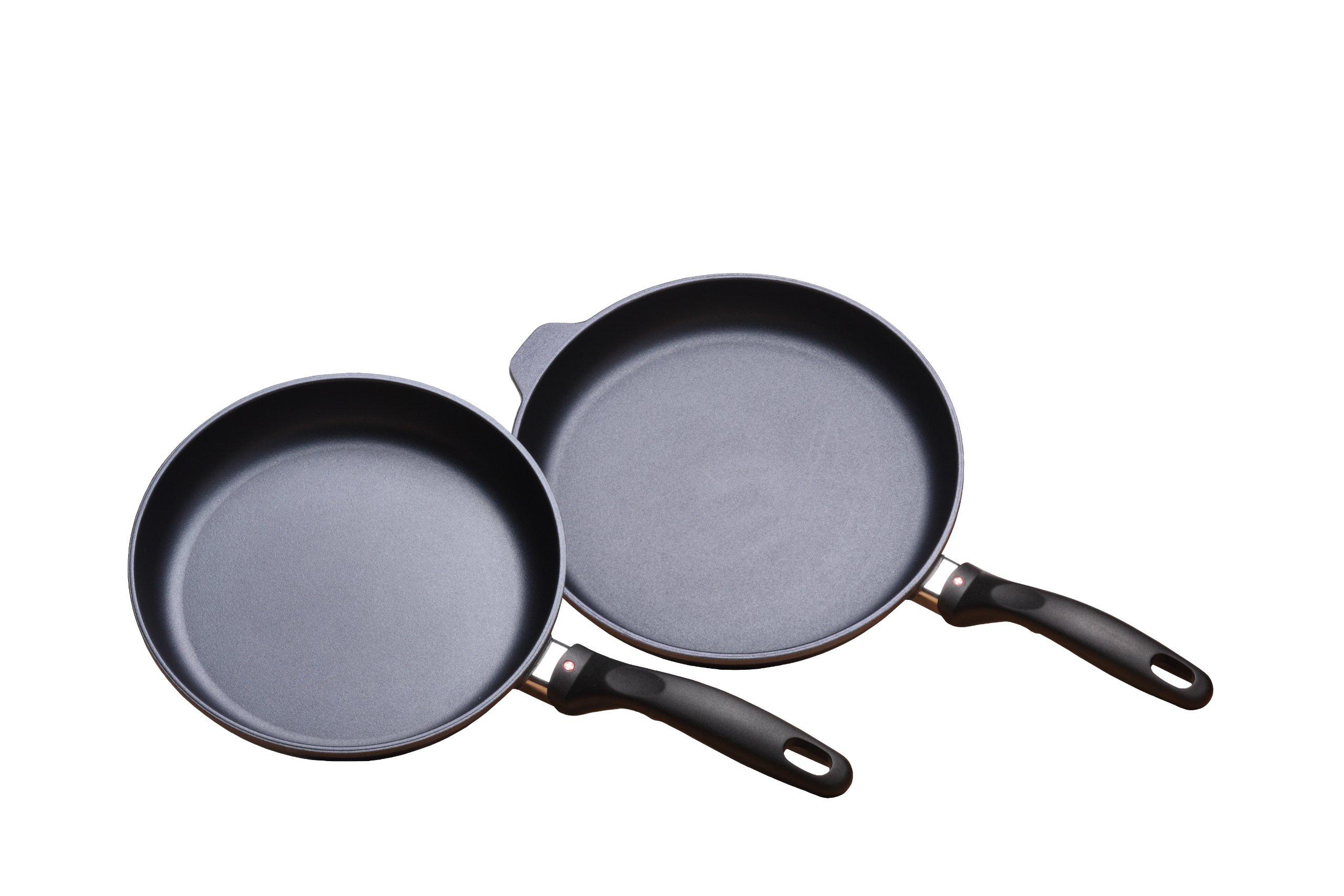 Swiss Diamond 2 Piece Set: Fry Pan Duo - 9.5'' and 11''
