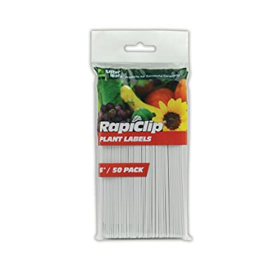 Luster Leaf Rapiclip 6-Inch Garden Plant Labels - 50 Pack 840: Garden & Outdoor