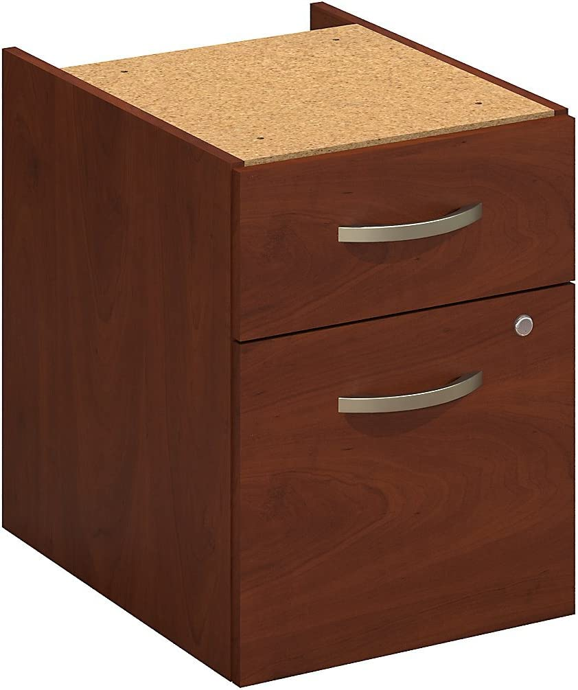 Bush Business Furniture Series C Elite 2 Drawer 3/4 Pedestal in Hansen Cherry