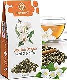 Organic Jasmine Green Tea Pearls Authentic Imperial Dragon Pearls Flowering Strings of Loose Leaf Green Tea that Brings…