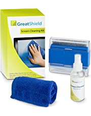 GreatShield LCD Touch Screen Cleaning Kit with Microfiber Cloth, Brush, Cleaner Wipes Spray Solution for Laptops, PC monitors, Smartphones, Tablets, iPhone, iPad, LED, TVs, DSLR Cameras, Camcorders