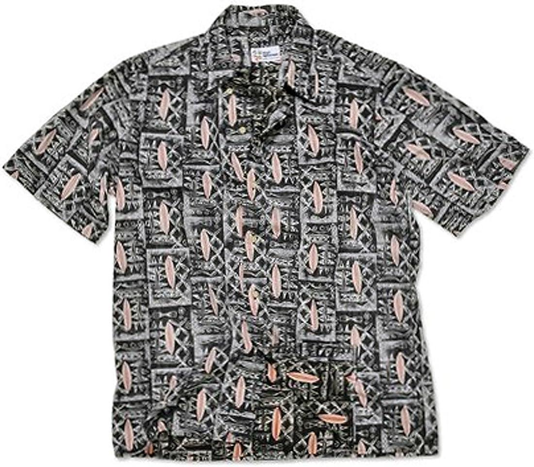 Reyn Spooner Longboard Tapa Classic Plkt Tahitian Cotton Short Sleeve Shirt