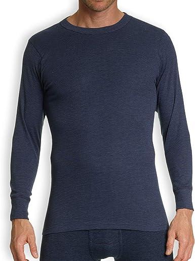 KUMPF BODY FASHION - Camiseta Interior de Manga Larga para Hombre, 2 Unidades, de algodón, sin Costuras Laterales, Transpirable, Regula la Temperatura, Color Azul, Talla M (5) hasta 2XL (8) Azul XL: