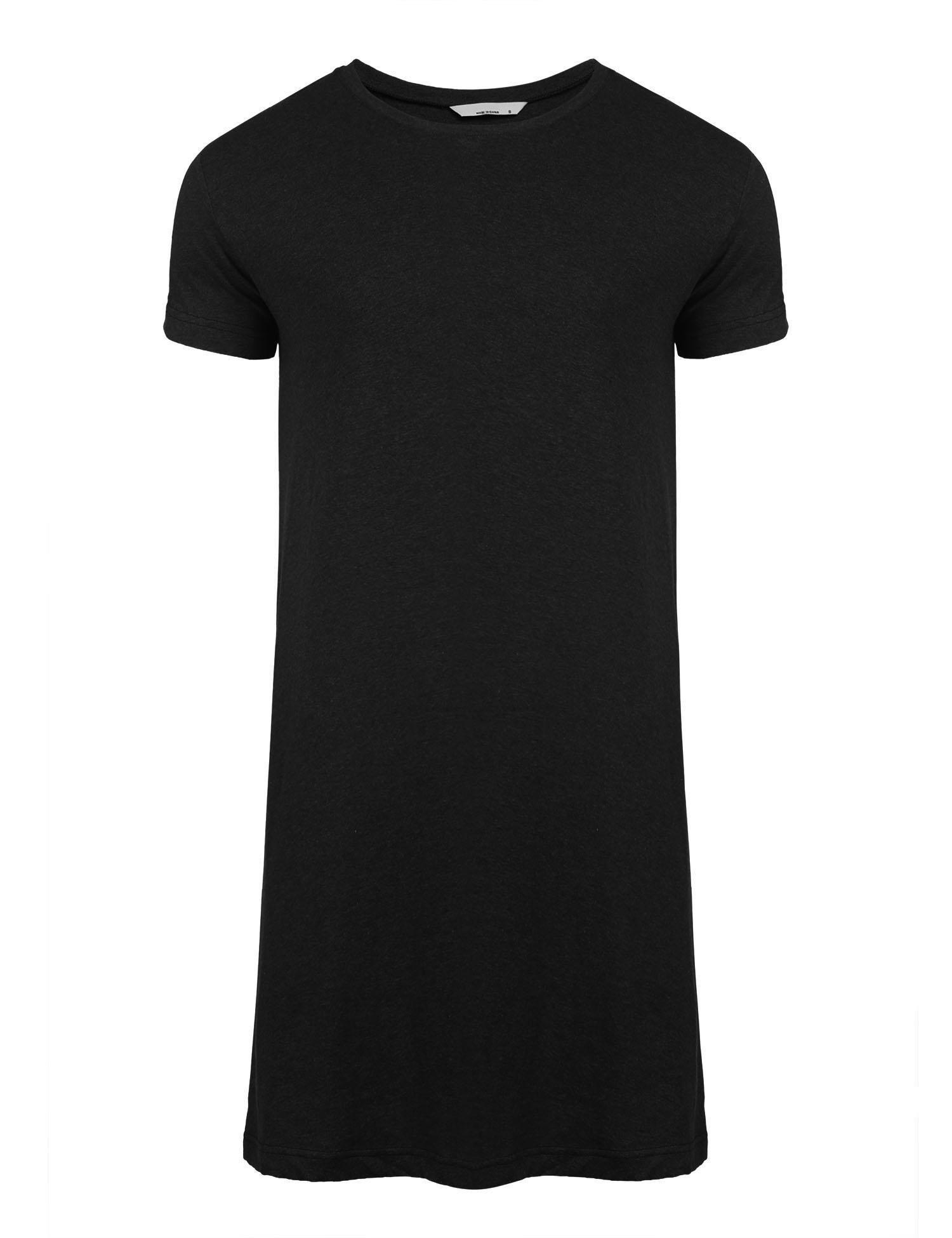 Skylin Mens Pjs Cotton Summer Nightshirt Big & Tall Solid Henley Sleep Shirt Sleepwear (Black, Small)