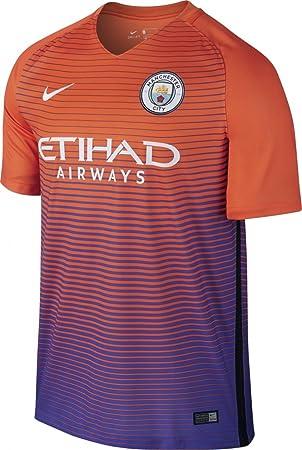 Nike MCFC M Nk Dry Stad JSY SS 3 Camiseta Línea Manchester City Football  Club c879e8419ed