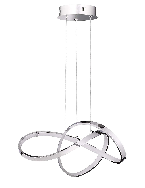 26.4 W M/étal 49 x 49 x 1500 cm WOFI 6401.01.01.7000 Lampe suspendue Integriert Chrom