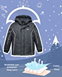 Wantdo Boy's Waterproof Ski Jacket Hooded Raincoats