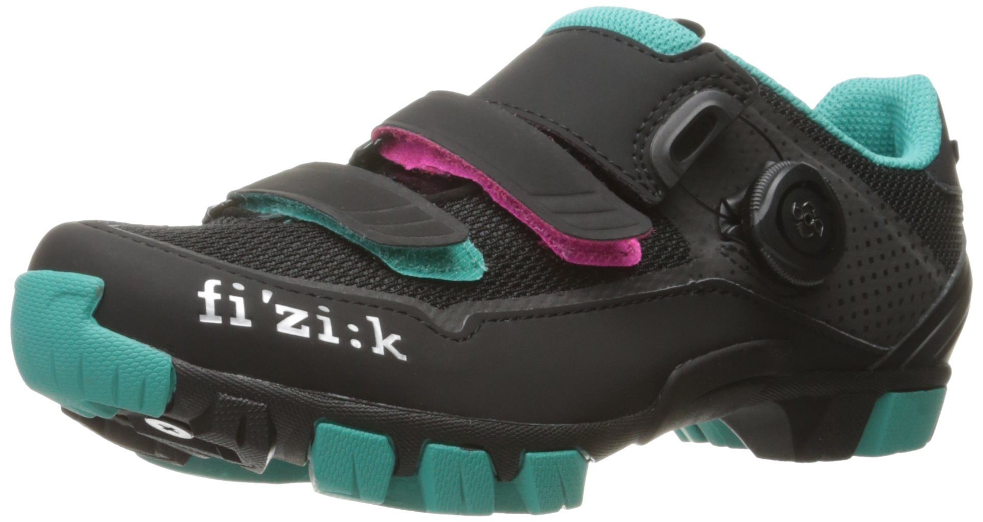 Fizik Women's M6 Donna BOA Mountain Cycling Shoes, Black/Anthracite/Emerald Green, Size 37.5  Black/Anthracite/Emerald Green by Fizik