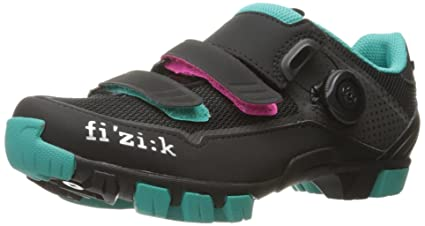ef4835f3 Fizik Women's M6 Donna BOA Mountain Cycling Shoes, Black/Anthracite/Emerald  Green,