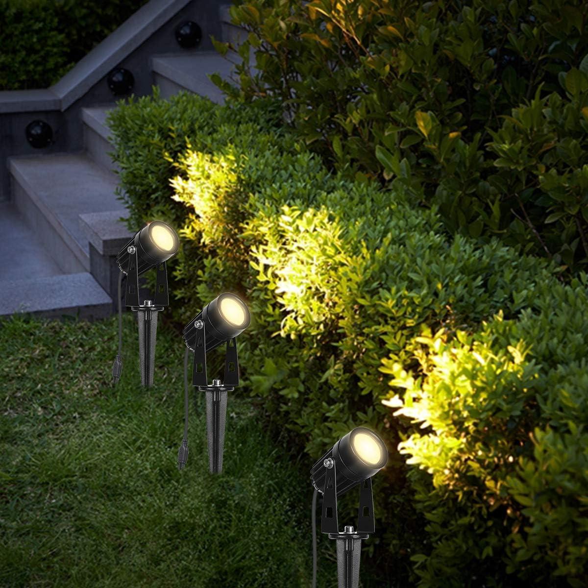 Uniquement Adapt/é aux Lampes de Jardin 4 et 8 Pi/èces sur Ce Lien, NE Peut PAS Etre Utilis/é Seul ou Avec Dautres Produits SanGlory 2pcs C/âble Dextension de Spot Jardin LED 2 M/ètres IP68 Etanche