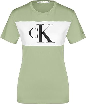 Calvin Klein Blocking Monogram CK tee Camisa para Mujer