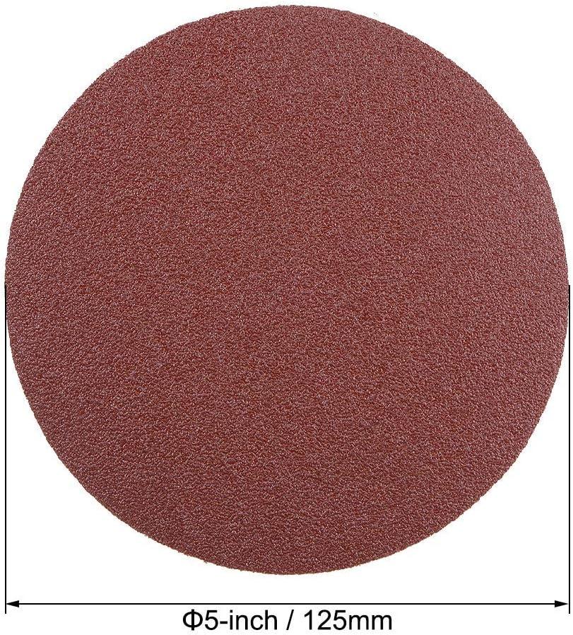 back sandpaper 5-inch PSA sanding disc aluminum oxide adhesive 30 pieces 320 grit