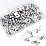 45PCS Shelf Pegs, 6mm Shelf Pins with Hole, Upgraded L-Shaped Metal Cabinet Shelf Clips, Nickel Plated Shelf Support…