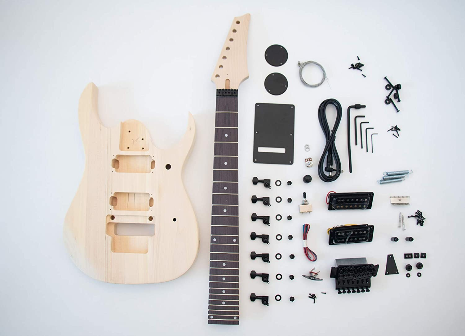 Amazon.com: DIY Electric Guitar Kit - 7 string Build Your Own ...
