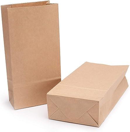 Bolsas De Comida De Papel Kraft Duraderas,Sandwich de Hamburguesa Impermeable y Resistente al Aceite,Bolsas de Almuerzo,Bolsas de Papel Kraft,Bolsas De Pan,24x13x8cm 50unids(a prueba de aceite): Amazon.es: Hogar