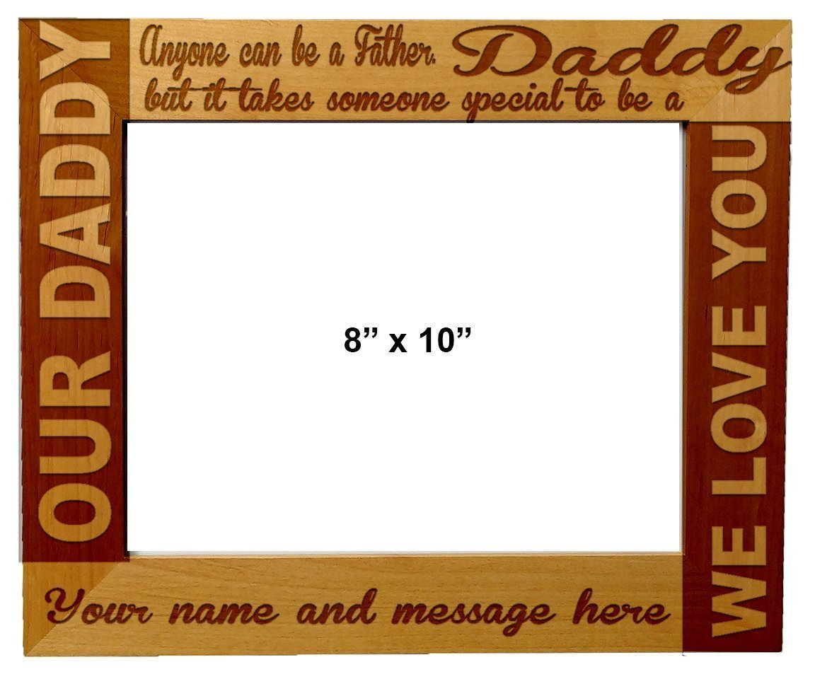 Amazon.com : Personalized Laser Engraved Wooden Picture ...